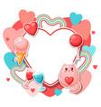 happy valentine day frame vector image