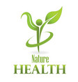 health nature green leaf care icon vector image vector image