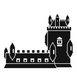 history castle icon simple style vector image vector image