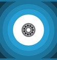 isolated ball bearing flat icon brake disk vector image vector image