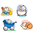little child in cartoon style vector image vector image