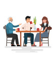 lunch in restaurant vector image vector image