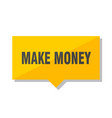 make money price tag vector image vector image