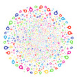 map marker bang spheric cluster vector image vector image