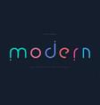 modern colored font for logo on black background vector image