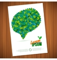 Nature rainbow leaves concept card leaf vector image vector image
