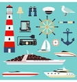 Nautical and marine icons design element sea vector image vector image