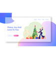 new year corporate party website landing page vector image vector image