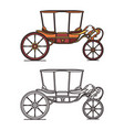 old carriage for marriage wedding vintage chariot vector image vector image