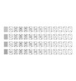 playing cards outline icons set - poker card vector image