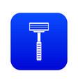 razor icon digital blue vector image vector image