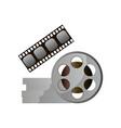 retro metal film reel modern vintage cinema vector image