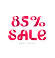 sale 85 percent off vector image
