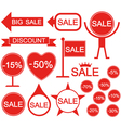 Sale Holiday stickers vector image vector image