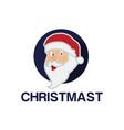 santa mascot logo vector image vector image