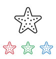 sea star icon vector image vector image