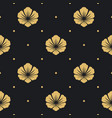 seamless pattern black with flower vector image