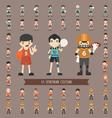 set 43 sportman costume characters vector image