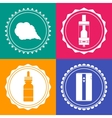 Set of 4 vaping design element signs vector image