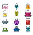 set of color origami bag vector image vector image