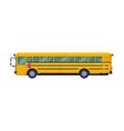 side view yellow school bus back to school vector image vector image