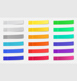 stick paper notes post note sticky tape colorful vector image vector image