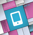 Tablet icon sign Modern flat style for your design vector image vector image