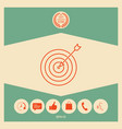 target goal line icon vector image vector image