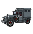 the vintage gray cabinet truck vector image vector image