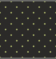 tile pattern with mint green dots on black vector image vector image