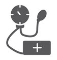tonometer glyph icon medicine and health vector image vector image