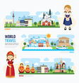 Travel and outdoor Europe Landmark Template Design vector image vector image