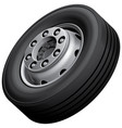 truck wheel isolated vector image vector image