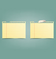 two tetrad sheets in a strip of yellow color vector image vector image