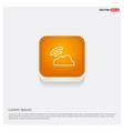 wifi signal icon orange abstract web button vector image