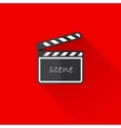 vintage of a clap board in flat style with long vector image