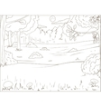 Forest cartoon coloring book educational game vector image