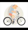 funny man on a bicycle vector image