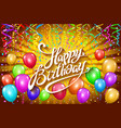 happy birthday typographic design for greeting vector image