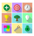 9 easy-to-use icons of 7 habits highly effective vector image vector image