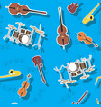 abstract seamless pattern musical instruments vector image