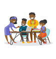 african-american business people working together vector image