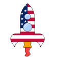 american rocket icon vector image