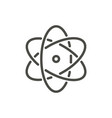 atom icon line nuclear symbol vector image