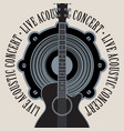 banner for live concert with speaker and guitar vector image vector image
