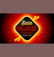 black friday sales background 16x9 template vector image vector image