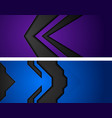 blue and violet hi-tech abstract geometric banners vector image vector image