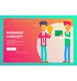 businessman buys an idea for money vector image