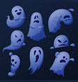cartoon cute ghost funny ghosts collection vector image