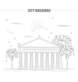 City buildings graphic templateAcropolis vector image